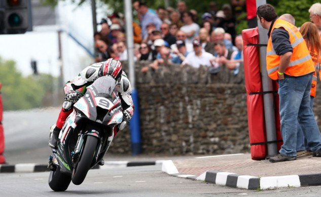 Ian Hutchinson settled for third in the Senior TT but won the Joey Dunlop TT Championship as the top rider of this year's Isle of Man TT. Photo by Dave Kneen at Pacemaker Press International.