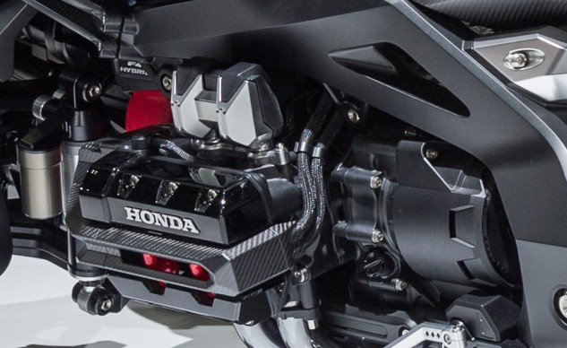 Look closely, and you'll see F4 Hybrid on the engine. Intrigued? Us, too.