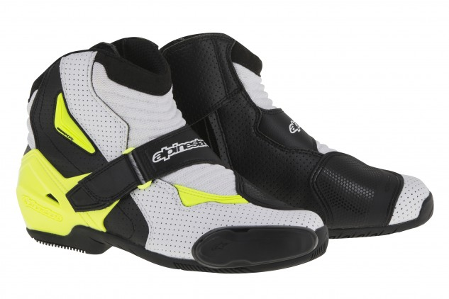 SMX-1R_vented_boot_black_white_yellow_fluo