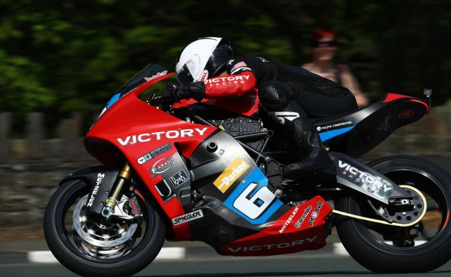 William Dunlop helped Victory improve on its results from last year's TT Zero.