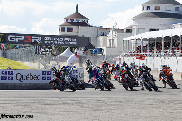 Gage McAllister (1) left Canada with another pair of wins in the AMA Supermoto Pro Open class. Photo By: Andrea Wilson
