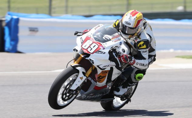 TOBC Racing's Danny Eslick is currently fourth in the 1000cc Superstock class, and with one win already this year, is a strong contender for the win in both races this weekend.