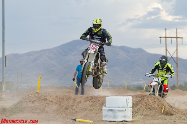 A second-place finish was enough for Josh Jackson (424) to clinch his first AMA Supermoto Pro Lites Championship.