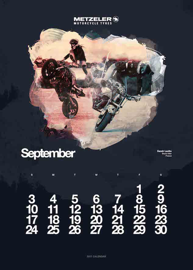 2017 Metzeler Calendar-September