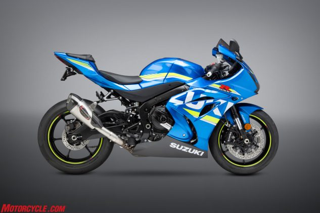 2017 Suzuki GSX-R1000 with Alpha T Street Series stainless slip-on.