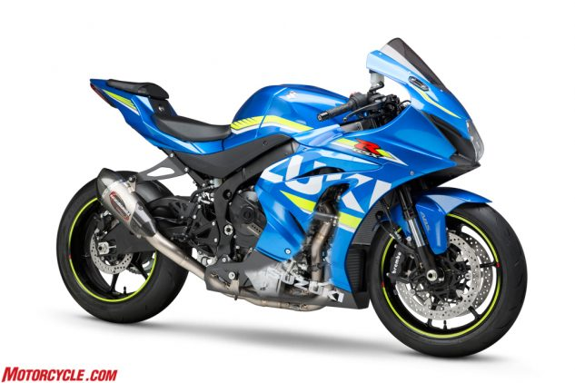 2017 Suzuki GSX-R1000 with Alpha T Race Series titanium full system.