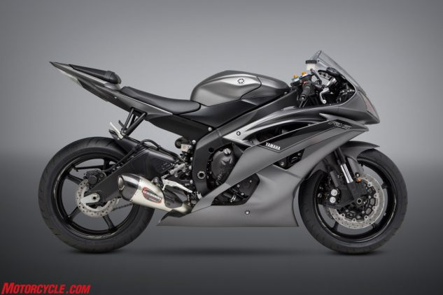 2016 Yamaha YZF-R6 with Alpha T Race Series stainless full system