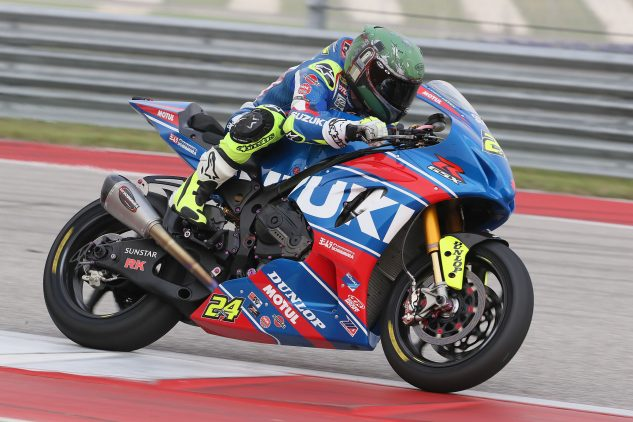 Yoshimura Factory Suzuki's Tony Elias came away from COTA Day 1 with the fastest time Click image above for additional photos | Photo: Brian J. Nelson