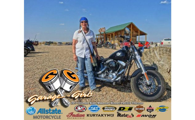 Garage-Girls and Allstate Motorcycle Insurance are proud to announce this year's Ultimate Biker Makeover winner; Patricia Thurston!