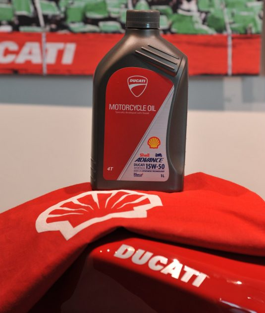 Ducati, shell motorcycle oil