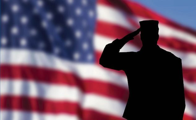 American-flag-and-saluting-soldier