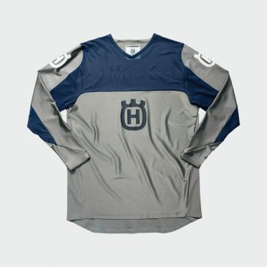 3HS192340X RAILED JERSEY GREY FRONT