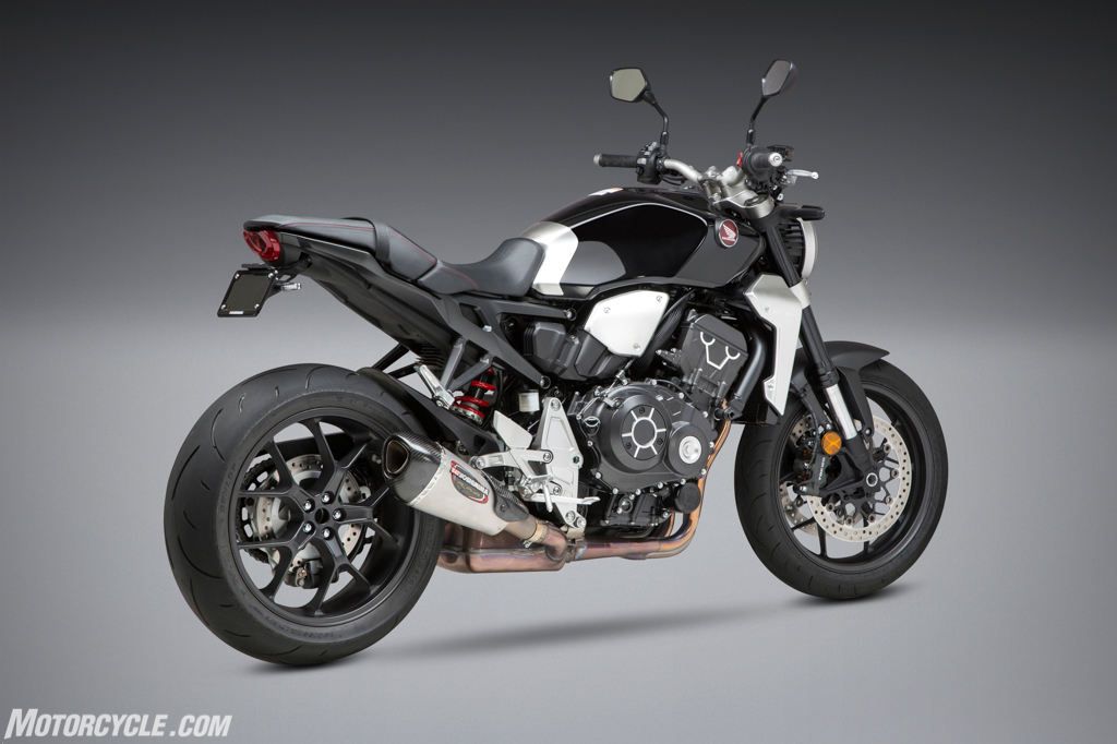 yoshimura introduces 2018 honda cb1000r exhaust fender. Black Bedroom Furniture Sets. Home Design Ideas