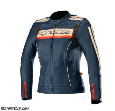 3112518_7793_STELLA DYNO v2 leather jacket_NavyWhiteCoral
