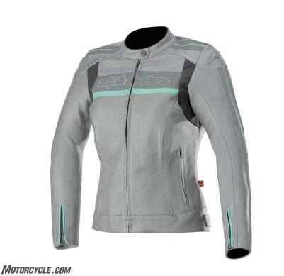 3112518_904_STELLA DYNO v2 leather jacket_CoolGrayAqua