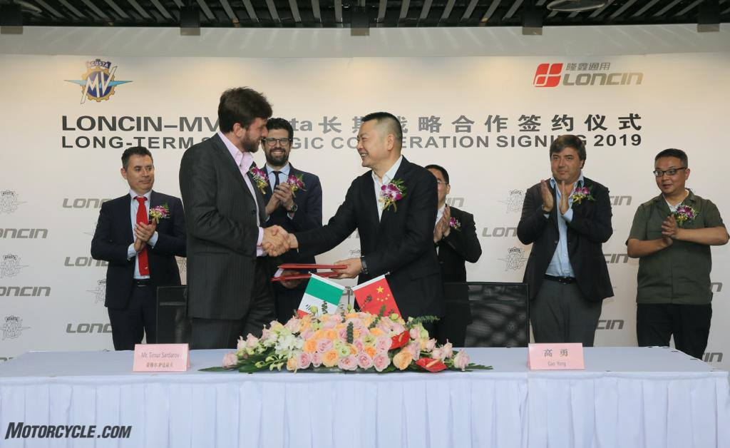 MV Agusta Motor and Chinese industrial giant Loncin Motor Co. Enter Partnership Agreement - Motorcycle.com News