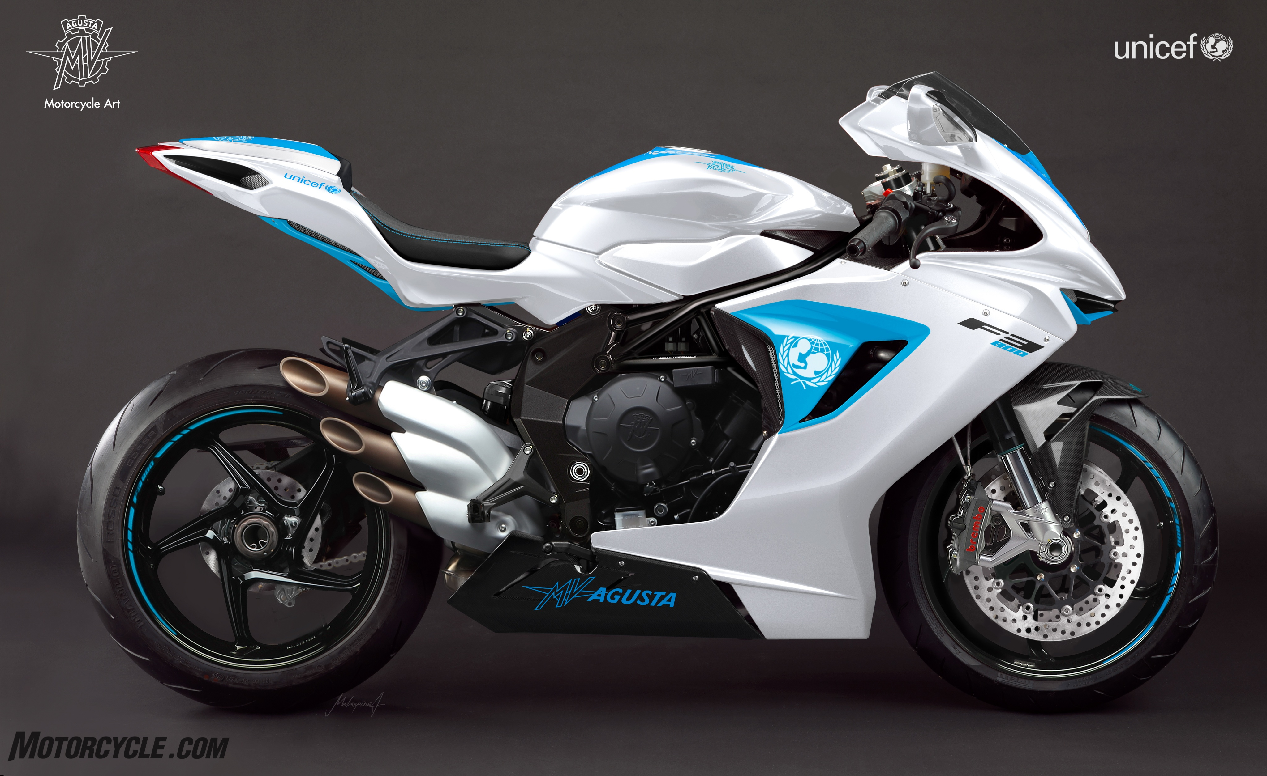 MV Agusta Provides One-of-a-Kind F3 for UNICEF Fundraiser - Motorcycle.com News