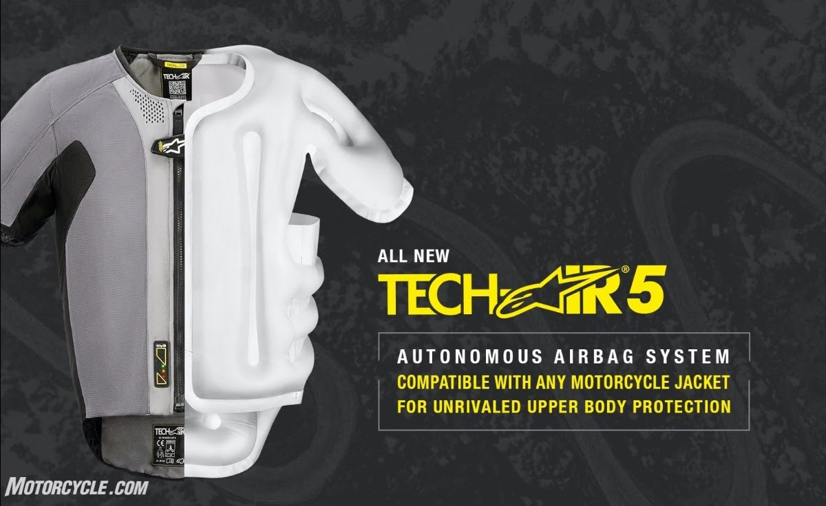 Alpinestars Motorcycle Jacket >> Updated: Alpinestars Tech-Air 5 Announced At CES For March ...