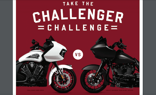 Indian Throws Down the Gauntlet With the Challenger Challenge - Motorcycle.com News